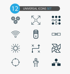 Learning icons set collection of mainframe vector