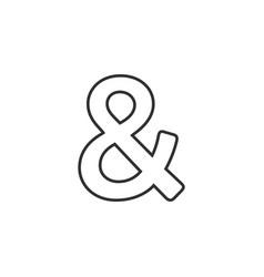Linear ampersand symbol logogram representing the vector