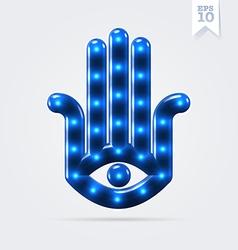 Lucky hamsa hand vector