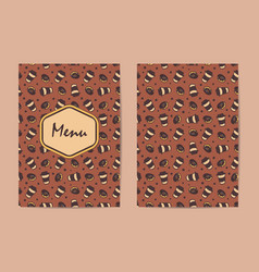 Menu template coffee restaurant brochure coffee vector