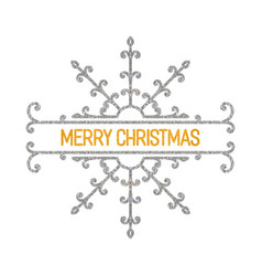 Merry christmas inscription vector