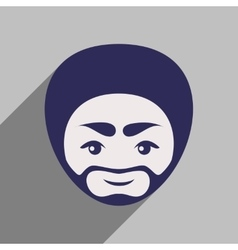 Modern flat icon with long shadow Indian man vector image