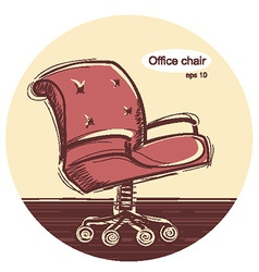 Office chair sketchy vector image