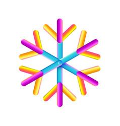 oval strips geometric snowflake icon trendy vector image