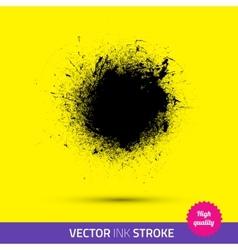 Paint brush ink stroke splash vector
