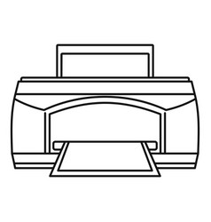 paper printer icon outline style vector image
