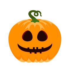 pumpkin isolated on white halloween vector image