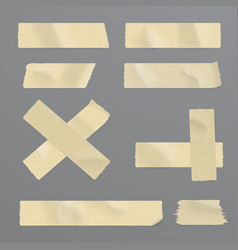 realistic adhesive tape set vector image
