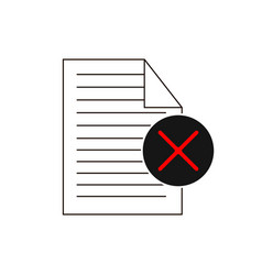 rejected check list isolated minimal single flat vector image