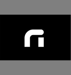 Ri r i black white bold joint letter logo vector