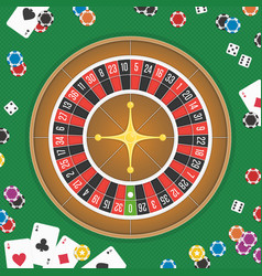 roulette wheel background vector image