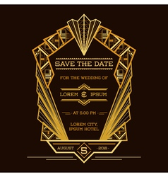 Save date - wedding invitation card vector
