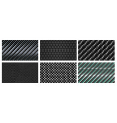 seamless carbon fiber texture black metallic vector image