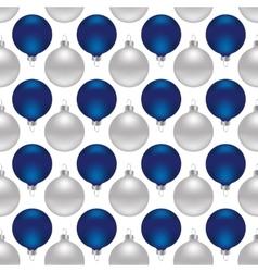 Seamless christmas balls vector