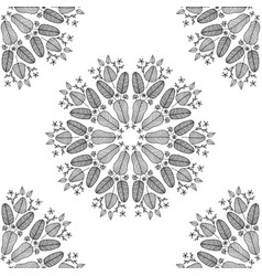 seamless colorless floral pattern vector image