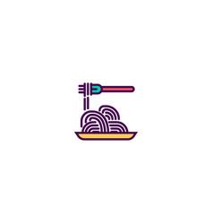 spaghetti icon design gastronomy icon design vector image