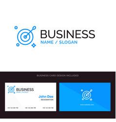 Target aim arrow blue business logo and business vector