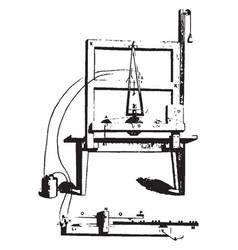 Telegraph instrument vintage vector