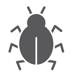 virus glyph icon security and internet bug vector image
