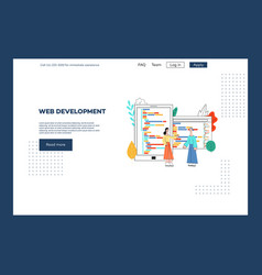 web development mobile apps flat concept vector image