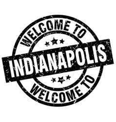 Welcome to indianapolis black stamp vector