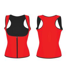 women red corset vest vector image