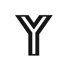 y logo monogram vector image