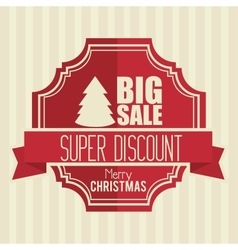 big sale super discount merry christmas banner vector image