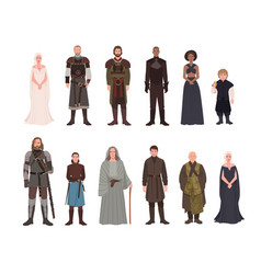 Collection of game of thrones fantasy novel and vector