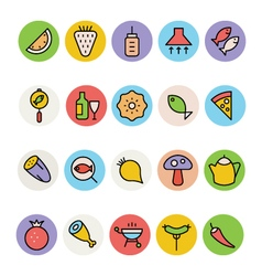 Food Colored Icons 4 vector image vector image