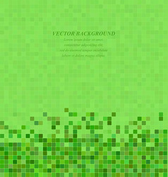 Green abstract pixel square mosaic background vector
