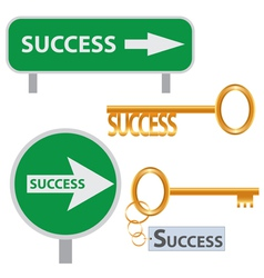 set of success concept arts vector image vector image