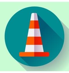 Traffic cone color icon under construction symbol vector image vector image