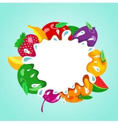 assorted fruit splash element vector image vector image