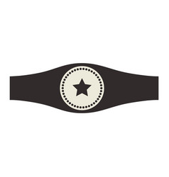 Boxing trophy championship vector