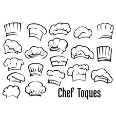Chef hats and toques set vector image