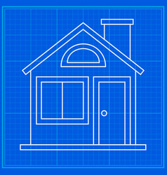 home sweet home blueprint icon vector image