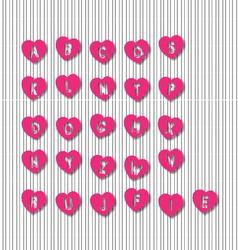 Letter Heart vector image