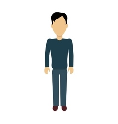 Man Character Template vector image vector image