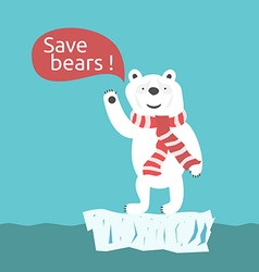 Save polar bears vector image