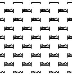 Stick man pattern seamless vector image vector image