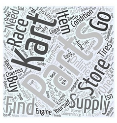 Where to buy go kart racing supplies word cloud vector