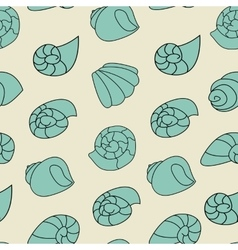 Blue shell pattern on the gray background vector image vector image