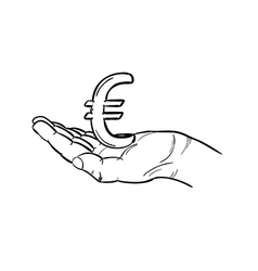 currency - euro vector image