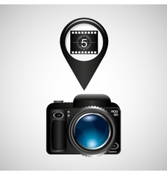 digital photo camera roll countdown numbers vector image