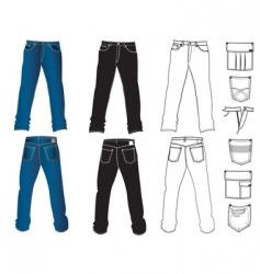 jeans man vector image