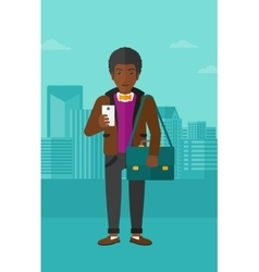Man using smartphone vector image