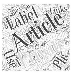 Private Label Articles Benefits Of Why You Should vector image