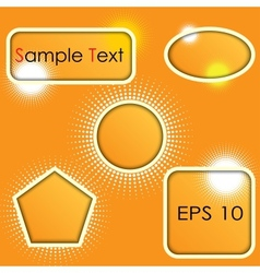 set of shapes vector image
