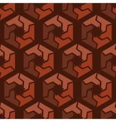 Abstract hexagonal seamless pattern vector image vector image